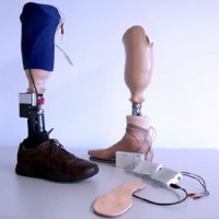 CortXSenSorics modified prosthetic compared to a normal prosthetic.